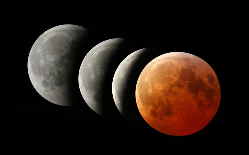 Phases of total lunar eclipse occured on March 4th 2007